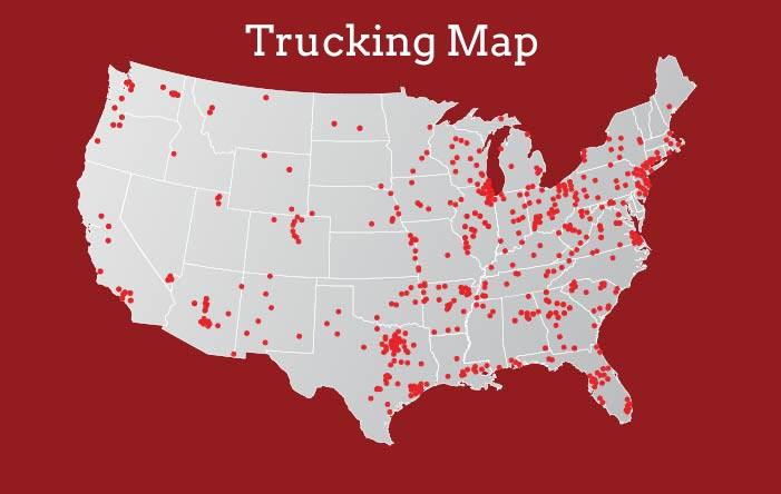 Acs Trucking Map